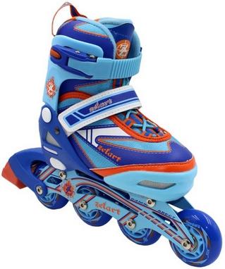 Коньки роликовые раздвижные ZEL Z-5104BO Candy сине-оранжевые