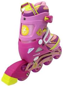Фото 3 к товару Коньки роликовые раздвижные ZEL Z-5104PY Candy розово-желтые