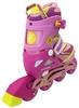 Коньки роликовые раздвижные ZEL Z-5104PY Candy розово-желтые - фото 3