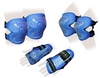 Защита спортивная детская Zel SK-4679B Lux (наколенники, налокотники, перчатки) синяя - фото 1