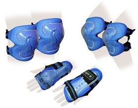 Защита спортивная детская Zel SK-4679B Lux (наколенники, налокотники, перчатки) синяя