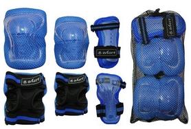 Фото 2 к товару Защита спортивная детская Zel SK-4679B Lux (наколенники, налокотники, перчатки) синяя