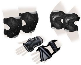Защита спортивная для взрослых Zel SK-4677BK Grace (наколенники, налокотники, перчатки) черная