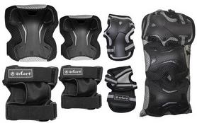 Фото 2 к товару Защита спортивная для взрослых Zel SK-4677BK Grace (наколенники, налокотники, перчатки) черная