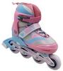 Коньки роликовые раздвижные ZEL Z-608PB Enjoyment розово-голубые - фото 1