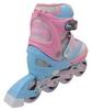 Коньки роликовые раздвижные ZEL Z-608PB Enjoyment розово-голубые - фото 3