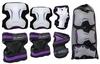 Защита спортивная для взрослых Zel SK-4677V Grace (наколенники, налокотники, перчатки) фиолетовая - фото 2