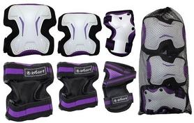 Фото 2 к товару Защита спортивная для взрослых Zel SK-4677V Grace (наколенники, налокотники, перчатки) фиолетовая