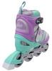Коньки роликовые раздвижные ZEL Z-608VG Enjoyment фиолетово-зеленые - фото 3