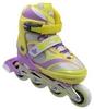 Коньки роликовые раздвижные ZEL Z-608YV Enjoyment желто-фиолетые - фото 1