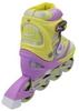 Коньки роликовые раздвижные ZEL Z-608YV Enjoyment желто-фиолетые - фото 3