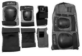 Фото 2 к товару Защита спортивная для взрослых Zel SK-4680GR Metropolis (наколенники, налокотники, перчатки) серая