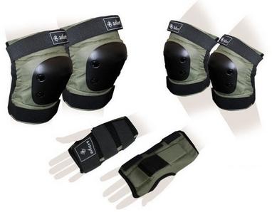 Защита спортивная для взрослых Zel SK-4680H Metropolis (комплект) хаки