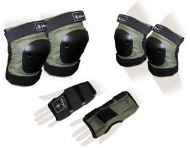 Защита спортивная для взрослых Zel SK-4680H Metropolis (наколенники, налокотники, перчатки) хаки