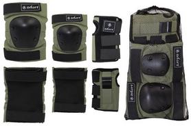 Фото 2 к товару Защита спортивная для взрослых Zel SK-4680H Metropolis (комплект) хаки