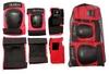 Защита спортивная для взрослых Zel SK-4680R Metropolis (наколенники, налокотники, перчатки) красная - фото 2