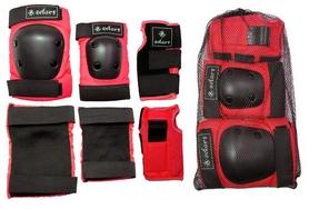 Фото 2 к товару Защита спортивная для взрослых Zel SK-4680R Metropolis (наколенники, налокотники, перчатки) красная