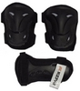 Защита спортивная детская Kepai LP-630 (наколенники, налокотники, перчатки) черная - фото 1