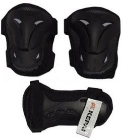 Защита спортивная детская Kepai LP-630 (наколенники, налокотники, перчатки) черная