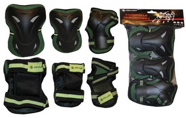 Защита для катания (комплект) Zel SK-3505 зеленая