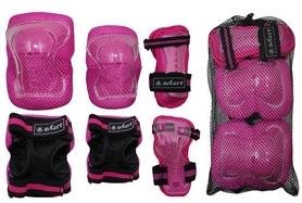 Фото 2 к товару Защита для катания детская (комплект) Zel SK-4679P Lux розовая