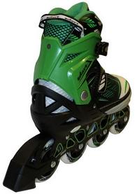 Фото 3 к товару Коньки роликовые раздвижные Zel Foliage Z-9001G зеленые