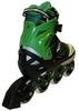 Коньки роликовые раздвижные Zel Foliage Z-9001G зеленые - фото 3