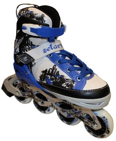 Фото 2 к товару Коньки роликовые раздвижные Zel Z-098B синие