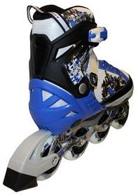 Фото 3 к товару Коньки роликовые раздвижные Zel Z-098B синие