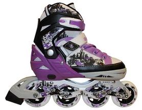 Коньки роликовые раздвижные Zel Z-098V фиолетовые