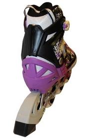 Фото 3 к товару Коньки роликовые раздвижные Zel Z-098V фиолетовые
