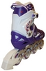 Коньки роликовые раздвижные Zel Heartful Z-096V фиолетовые - фото 3