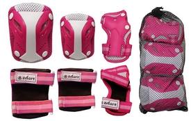 Фото 2 к товару Защита для катания (комплект) Zel Perfection SK-4685PW розово-белая