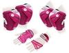 Защита для катания (комплект) Zel Perfection SK-4685PW розово-белая - фото 1