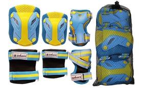 Фото 2 к товару Защита для катания (комплект) Zel Perfection SK-4685BY сине-желтая
