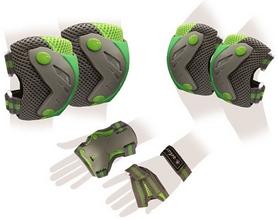 Защита для катания (комплект) Zel Perfection SK-4685BKG серо-зеленая