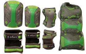 Фото 2 к товару Защита для катания (комплект) Zel Perfection SK-4685BKG серо-зеленая