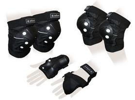 Защита для катания (комплект) Zel Vulcan SK-4683BK черная