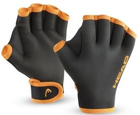 Фото 1 к товару Перчатки для бассейна Head черно-оранжевые