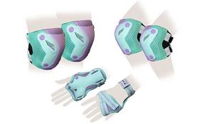 Защита для катания (комплект) Zel Perfection SK-4685GV зелено-фиолетовая
