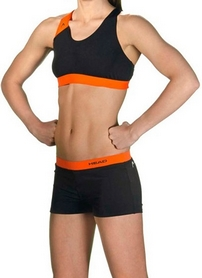 Фото 2 к товару Купальник женский Head Splice Bikini Plus черно-оранжевый