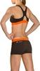 Купальник женский Head Splice Bikini Plus черно-оранжевый - фото 3