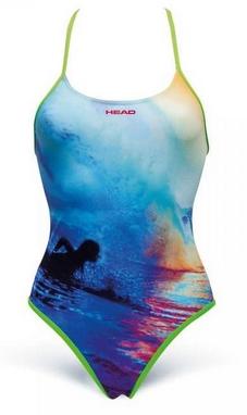 Купальник женский Head Swim Lady сине-зеленый