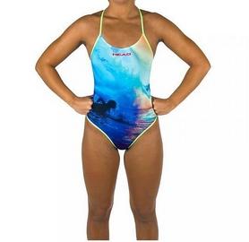 Фото 2 к товару Купальник женский Head Swim Lady сине-зеленый