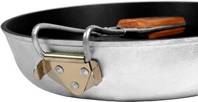 Фото 4 к товару Сковорода походная с антипригарным покрытием с ручкой БЛС 26
