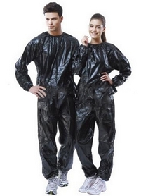 Костюм сауна для похудения Exercise Suit 0,17 мм черный - XL