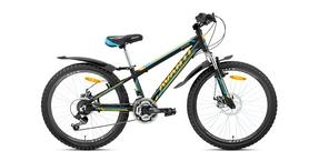 """Велосипед подростковый горный Avanti Dakar-24 Alu V-Brake 24"""" 2016 черно-оранжевый рама - 12"""""""