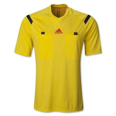 Футболка арбитра Adidas REF 14 JSY желтая