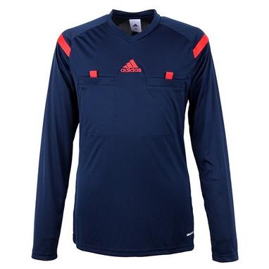 Футболка арбитра с длинным рукавом Adidas REF 14 JSY LS синяя