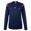 Футболка арбитра с длинным рукавом Adidas REF 14 JSY LS синяя - фото 1